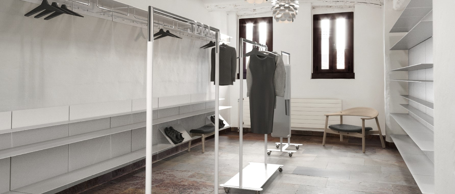 FROST - Interior for bathroom, wardrobe and living